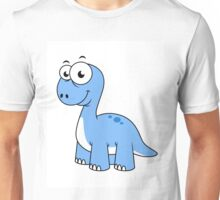 Cute illustration of a Brontosaurus. Unisex T-Shirt