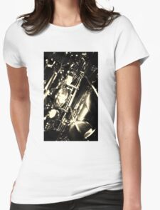 Close up of an alto saxophone- sepia coloured Womens Fitted T-Shirt