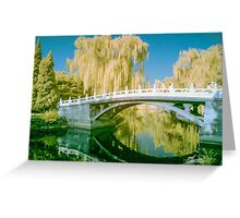 Tranquil Bridge in Infra Red Greeting Card