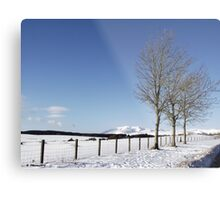 Snow Scene in Cumbria Metal Print