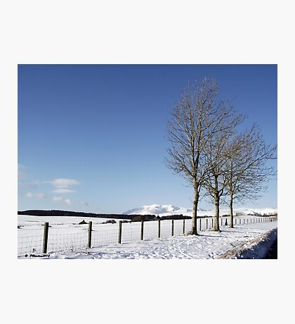Snow Scene in Cumbria Photographic Print