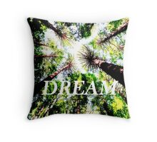 Dream (Redwood Forest, Edited) Throw Pillow