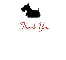 Scottie Dog 'Thank You' by archyscottie