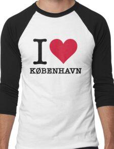 I love Copenhagen Men's Baseball ¾ T-Shirt
