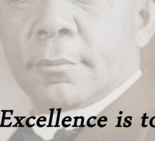 Excellence - Booker T Washington Sticker