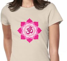 Pink lotus Womens Fitted T-Shirt