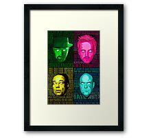 Breaking Bad All Stars Framed Print