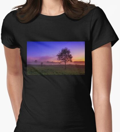 The Fog & the Tree Womens Fitted T-Shirt