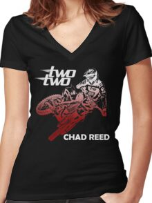 chad reed two two Women's Fitted V-Neck T-Shirt