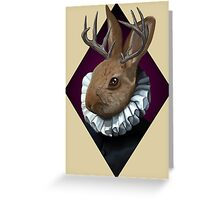 The Fancy Jackalope Greeting Card