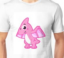 Cute illustration of a pterodactyl. Unisex T-Shirt