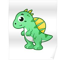 Cute illustration of a Spinosaurus. Poster