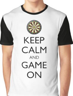 KEEP CALM AND GAME ON - Dart Board Graphic T-Shirt