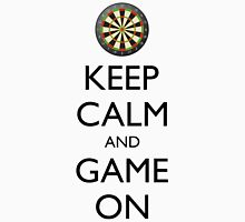 KEEP CALM AND GAME ON - Dart Board Unisex T-Shirt