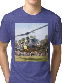 Huey Eagle One Helicopter Tri-blend T-Shirt