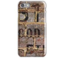 Vintage writing on brick wall  iPhone Case/Skin