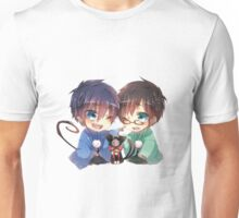 Ao no Exorcist - Rin, Yukio and Kuro Unisex T-Shirt