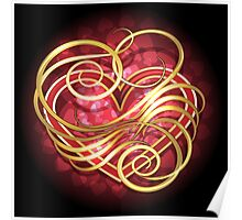 Heart in swirls Poster