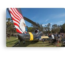 Huey Eagle One Helicopter  Canvas Print