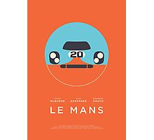 Le Mans movie Porsche 917 Gulf (Layout 4 Orange) Photographic Print