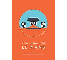 Le Mans movie Porsche 917 Gulf (Layout 4 Orange) Photographic Print
