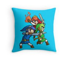 Triforce Heroes Legend of Zelda Throw Pillow