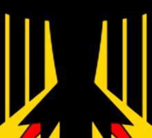 GERMAN EAGLE, on BLACK, German Coat of Arms, Flag, Bundesdienstflagge und Kriegsflagge Sticker