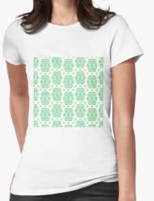 Audrey White Arsenic Pattern Womens Fitted T-Shirt