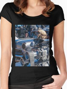 Mad Max Fury Road Skull Women's Fitted Scoop T-Shirt