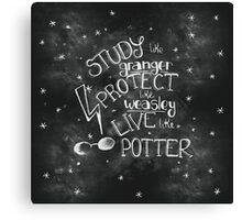 Live like Potter Canvas Print