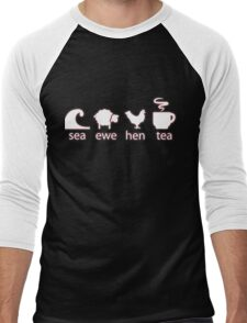 Sea Ewe Hen Tea Men's Baseball ¾ T-Shirt