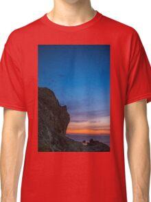 A rock looks like human face Classic T-Shirt