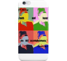 "Leia's Army ""Youth and Beauty"" (large) iPhone Case/Skin"