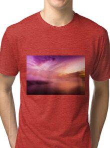 Fog over the bridge Tri-blend T-Shirt