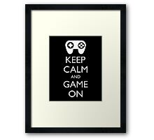 KEEP CALM AND GAME ON - Game pad Framed Print