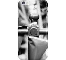 Black and white flags strung up iPhone Case/Skin
