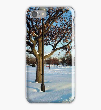 A winter snow scene iPhone Case/Skin