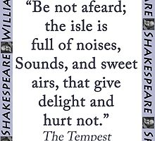 Be Not Afeard - Shakespeare by CrankyOldDude