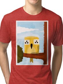 A bird on a branch Tri-blend T-Shirt