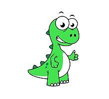 Cute illustration of Tyrannosaurus Rex. Photographic Print