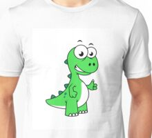 Cute illustration of Tyrannosaurus Rex. Unisex T-Shirt