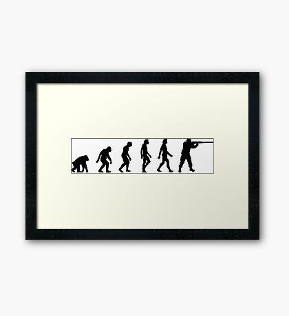 The Evolution of hunters Framed Print