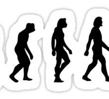 The Evolution of hunters Sticker