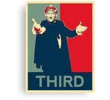 Third doctor - Fairey's style Canvas Print