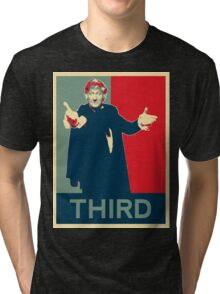 Third doctor - Fairey's style Tri-blend T-Shirt