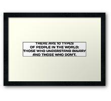 NERD HUMOR: Binary Humor Framed Print