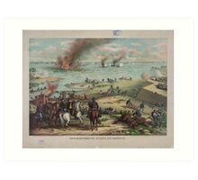 Battle between the Monitor and Merrimack (March 9th 1862) Art Print