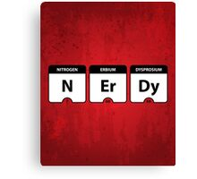 Nerdy Periodic Table Canvas Print