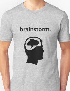 Brainstorm profile face Unisex T-Shirt