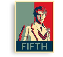Fifth doctor - Fairey's style Canvas Print